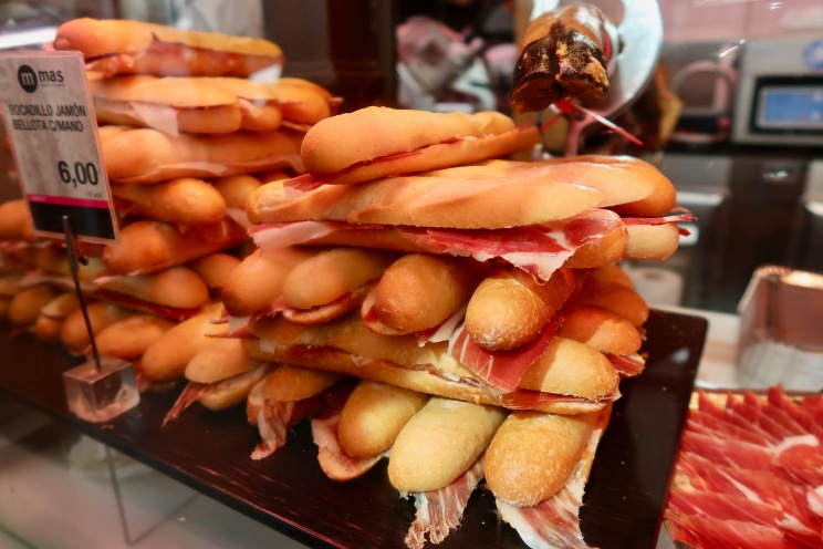 At Mercado San Miguel - the price is a bit steep for a mini baguette!