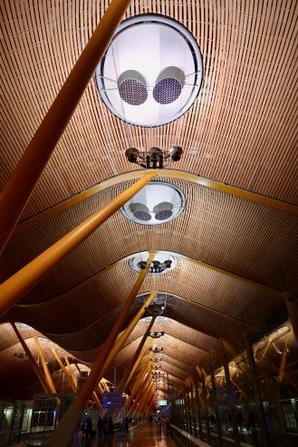 Madrid airport interiors. The aliens are landing.