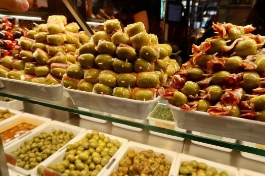 Olives at Mercado de San Miguel