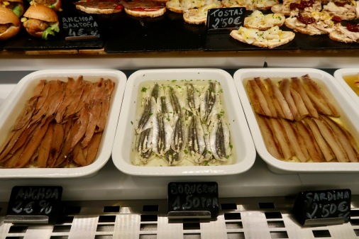 Sardines, anchovies and something else delicious which I can't recall the name!