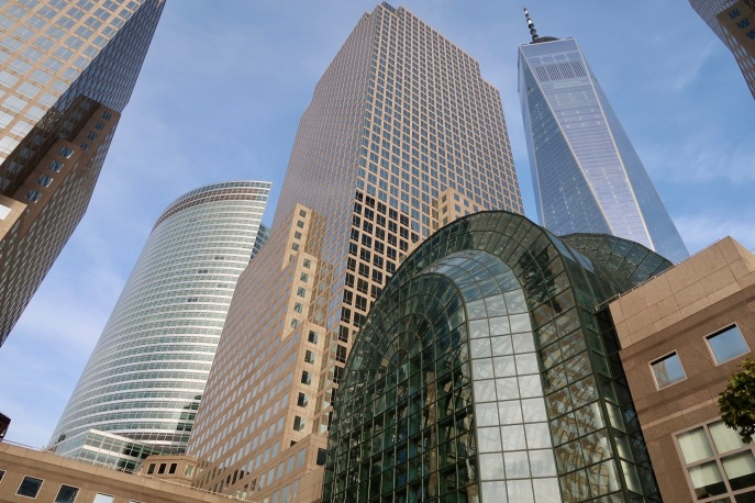 Beautiful buildings in New York abound.