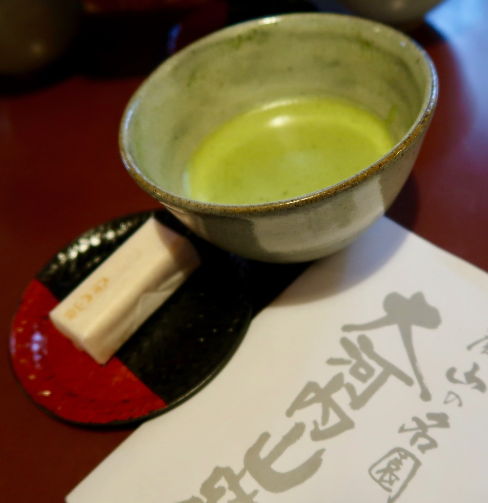 Green tea - as close to a tea ceremony we are going to get