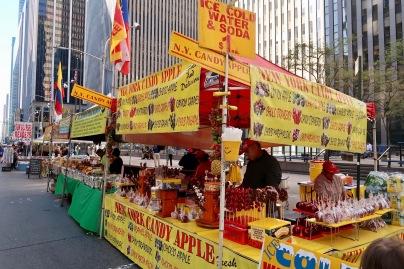 Saturday morning street market in NY.