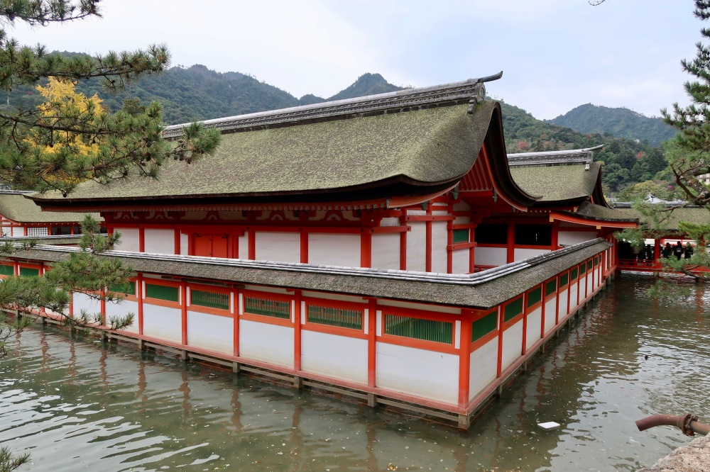Shinto Shrine in low tide