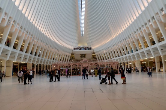 Oculus interior. One of the most beautiful buildings I've seen of late.