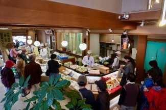 This restaurant's speciality is chestnut rice. It was delicious.