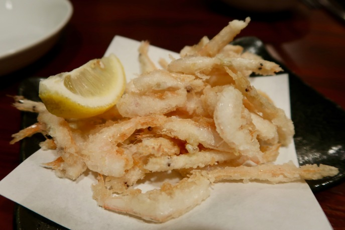 Tiny white prawns tempura style. This was so yummy!!