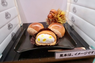 This I love about the Japanese delicatessens, they display every item they sell so you know what you're getting into.